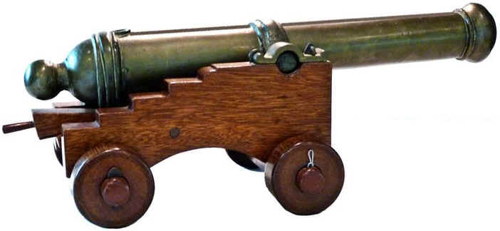 1840 british insurance gun swivel cannon deck carriage