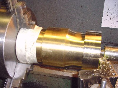 Corhorn Mortar outside bottom contour machining