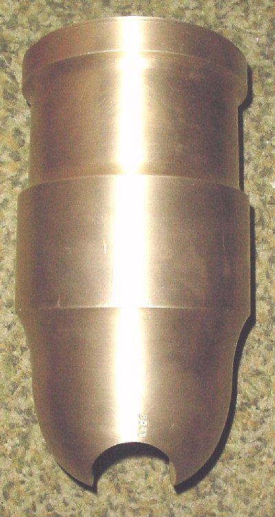 coehorn mortar trunnion slot machined into tube