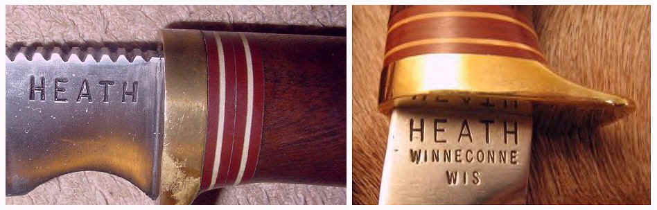 Heath knive name stamp - heath winneconne wis