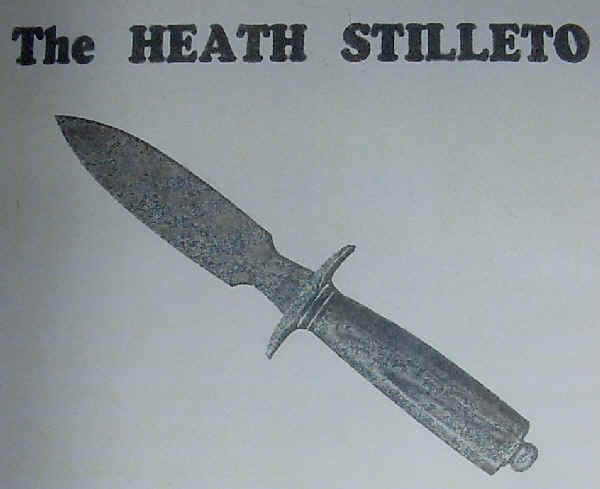 Heath stilleto knife - double edge