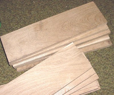 White Oak boards for Coehorn Mortar Bed