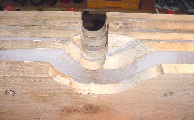 6 Coehorn Mortar bed boards being shaped
